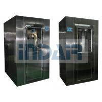 Quality Intelligent SS Cleanroom Air Shower , Adjustable Time Air Shower Unit With Nozzles wholesale