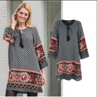 China Factory price Patterned Border Dress Spring Dress for women on sale