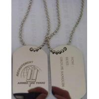 Buy cheap Stainless Steel Dog Tag Military Tag from wholesalers