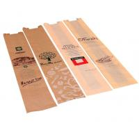 China Custom Fast Food Paper Bags For Bread Using Environmental Friendly Material on sale