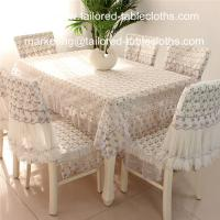 Quality Coloured embroidered lace table linens, embroider lace table sheet and chair covers wholesale