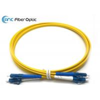 Quality LSZH Singlemode Fiber Optic Patch Cables LC/UPC to LC/UPC Yellow 3 Meter wholesale