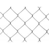 China Black PVC Coated Chain Link Fence Mesh 1.2M - 1.8M Width Stainless Steel Wire on sale