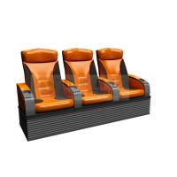 Quality Wonderful design 3 person 4D Theater Seats with real leather , dustproof cover wholesale