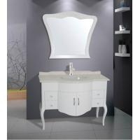 Cheap 1200 * 52 * 85cm marble countertop bathroom vanities traditional style Ivory flush for sale