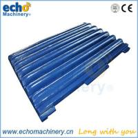 China Tesab 10580 jaw crusher spare parts jaw liner,tooth plate for mining field on sale