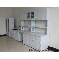 Quality Professional Chemistry Lab Furniture , PP Lab Island Bench With Sink / Faucets wholesale