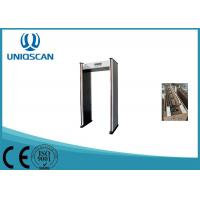Quality 6 Zones Metal Detectors Walk Through Safety Gate With LED Side Light Alarm wholesale
