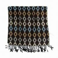 Quality 100g Men's Scarf, Made of 100% Acrylic, Measuring 180 x 40 + 10cm wholesale