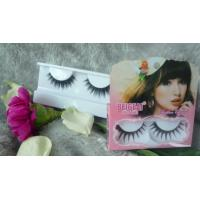 Quality Black Handmade Long Thick False Eyelashes Synthetic Hair , Natural Look False Eyelashes wholesale