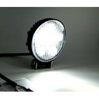 27W Round Vehicle LED Work Lights DC 9-30V 1620 Lm Lumens , Stainless Steel