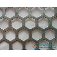 Quality Hexagonal Hole Staggered Perforated Metal, 4.5mm to 12.7mm Hole Size wholesale