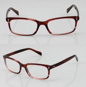 Cheap Fashion Acetate Mens Eyeglasses Frames, Blue Handmade Acetate Eyewear Frames for sale