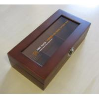 Buy cheap wooden tea box with 3 compartment from wholesalers
