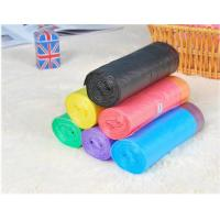 HDPE Packaging Home Garbage Bags , Drawstring Trash Can Liners Customized Size