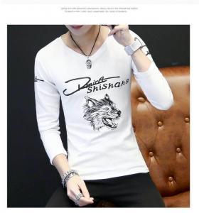 Quality Custom Full Hand Designer Plain Mens Long Sleeve T shirt wholesale