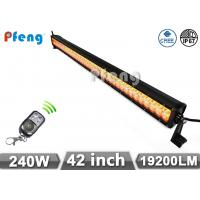 Quality 42 inch 240W Cree Led Light Bar With Amber and White Color Flashing wholesale