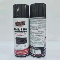 Quality Indoor Outdoor Black Aerosol Spray Paint Anti Faded For Plastic Renews / Revitalizes wholesale