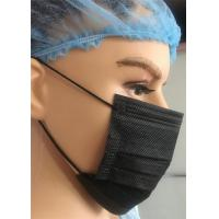 Quality Black Chemical Protective Face Mask Surgical Disposable For Laboratory Pharmacy Use wholesale