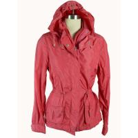 Quality Red Windproof Custom Sport Jackets , Ladies Hooded Padded Jacket wholesale