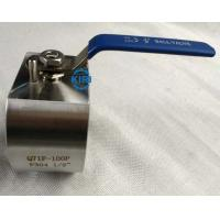 Quality Wafer End Forged Steel Ball Valve DN15 - DN50 Size Wafer Ball Valve Long Service Life wholesale
