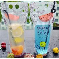 Quality Biodegradable Liquid Packaging Leakage Proof Pouch Custom Custom 1 Gallon Water Bag Foldable Sports Drinking Water Bag wholesale