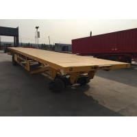 Quality Mn Steel 3 Axles Flatbed Cargo Trailer Carrying 30t Heavy Goods wholesale