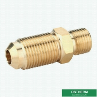 China Sae 45-Degree Male Threaded Coupling Nipple Pipe Fitting Copper Pipe Flare Fitting on sale