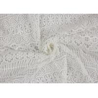 Quality Textile Milk Fiber Water Soluble Guipure Lace Fabric By The Yard Stretch Soft Feel wholesale