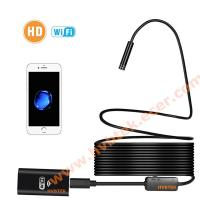 China Wireless Inspection Camera Wifi Semi-rigid Endoscope  2.0MP HD Waterproof Snake Camera with 8 adjustable Led lights on sale
