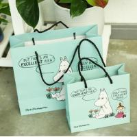 China Full Color Laminated Sturdy Pretty Shopping Paper Bags Sustainable Hot Stamping on sale