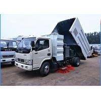 Cheap Dongfeng 4x2 Road Sweeper Truck 4cbm 6 Wheels With Brush Humanized Operation for sale