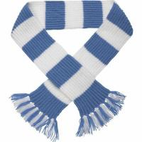 Quality 50cm Winter Wool Free Striped Scarf Knitting Pattern With Embroidery Logo wholesale