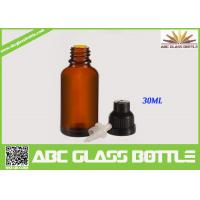 Quality 30ml amber essential oil glass bottle wholesale
