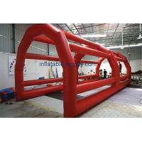 Quality Large Inflatable Batting Cages , Inflatable Baseball Sport Court For Rental With PVC Material wholesale