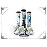 Quality Beaker Bong 7MM Thick Glass Smoking Pipes Cool  Rick And Morty On Glass Water Bongs wholesale