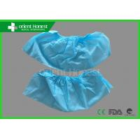 Quality Light Blue Pp Nonwoven 30gsm Indoor Disposable Shoe Cover For Simple Protection wholesale