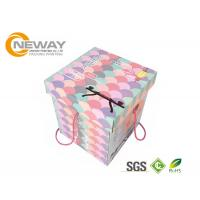 Quality Modern Decorative Paper Boxes / Flower Shipping Boxes With Art Paper For Party wholesale
