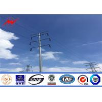 China Round tapered galvanization electrical power pole for transmission pole on sale