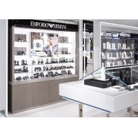 Quality Watch Showroom Display Cases White Painting Color With LED Spot Light wholesale