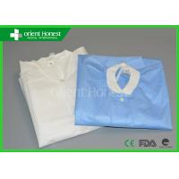 Quality Medical White / Blue / Yellow / Doctor Disposable Clothes / Garments For Hospital wholesale