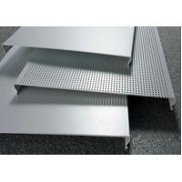 China C100 Bevelled Edges Perforated Aluminum Ceiling Panels RAL Colors on sale