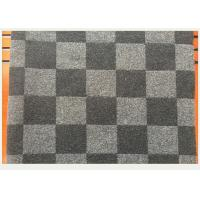 Quality Coat Smooth Black And White Buffalo Check Fabric 45% Wool 750g Per Meter wholesale