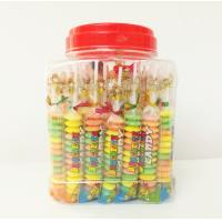 Quality Multi Fruit Flavor Baby Compressed Candy Brochette In Plastic Jars Taste Sweet And Sour wholesale