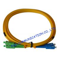 Quality SC FC LC ST Fiber Optic Patch Cord 9 / 125um Duplex Corning Fiber For LAN wholesale