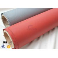 Quality Red Silicone Coated 800℃ 0.7MM Silica Fiberglass Fire Blanket 750g / m2 Weight wholesale