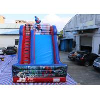 Quality 7 meters high kids spiderman inflatable slide with complete digital printing for outdoor parties wholesale