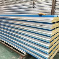 Quality roof aluminum sandwich tile 50mm blue color pu panel for cold room wholesale