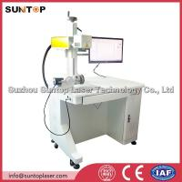 Quality 20W fiber laser rotating marking machine for pipe and round tube marking wholesale