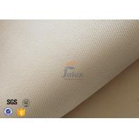 Cheap 800℃ Thermal Insulation Materials / 600g 0.7mm High Silica Cloth Light Brown Color for sale